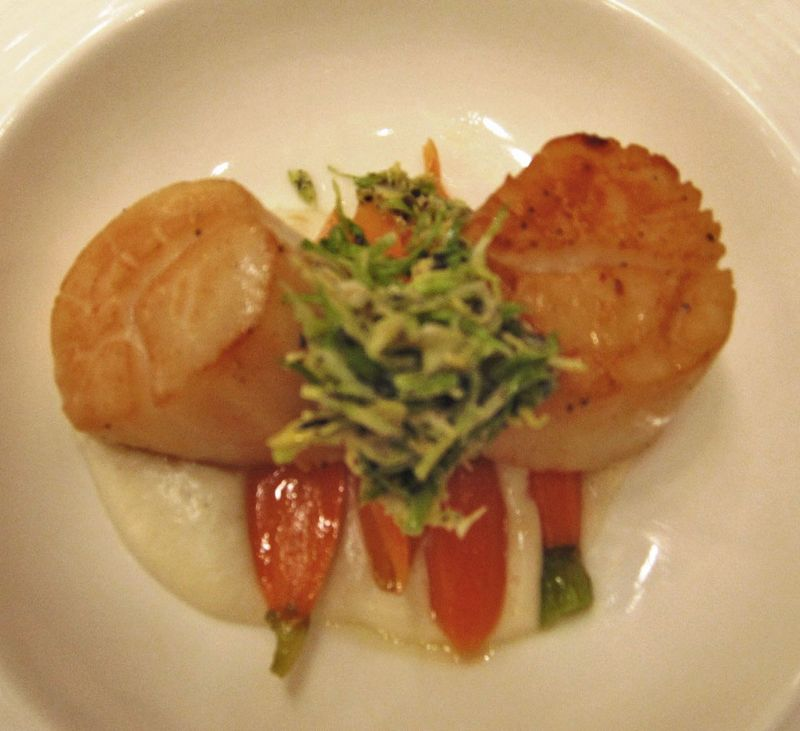 Olives scallops