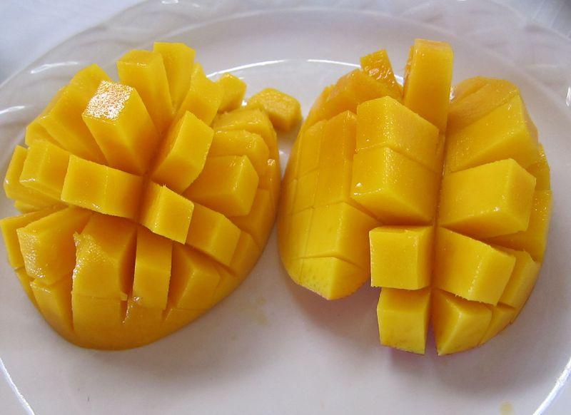 Scored mangoes