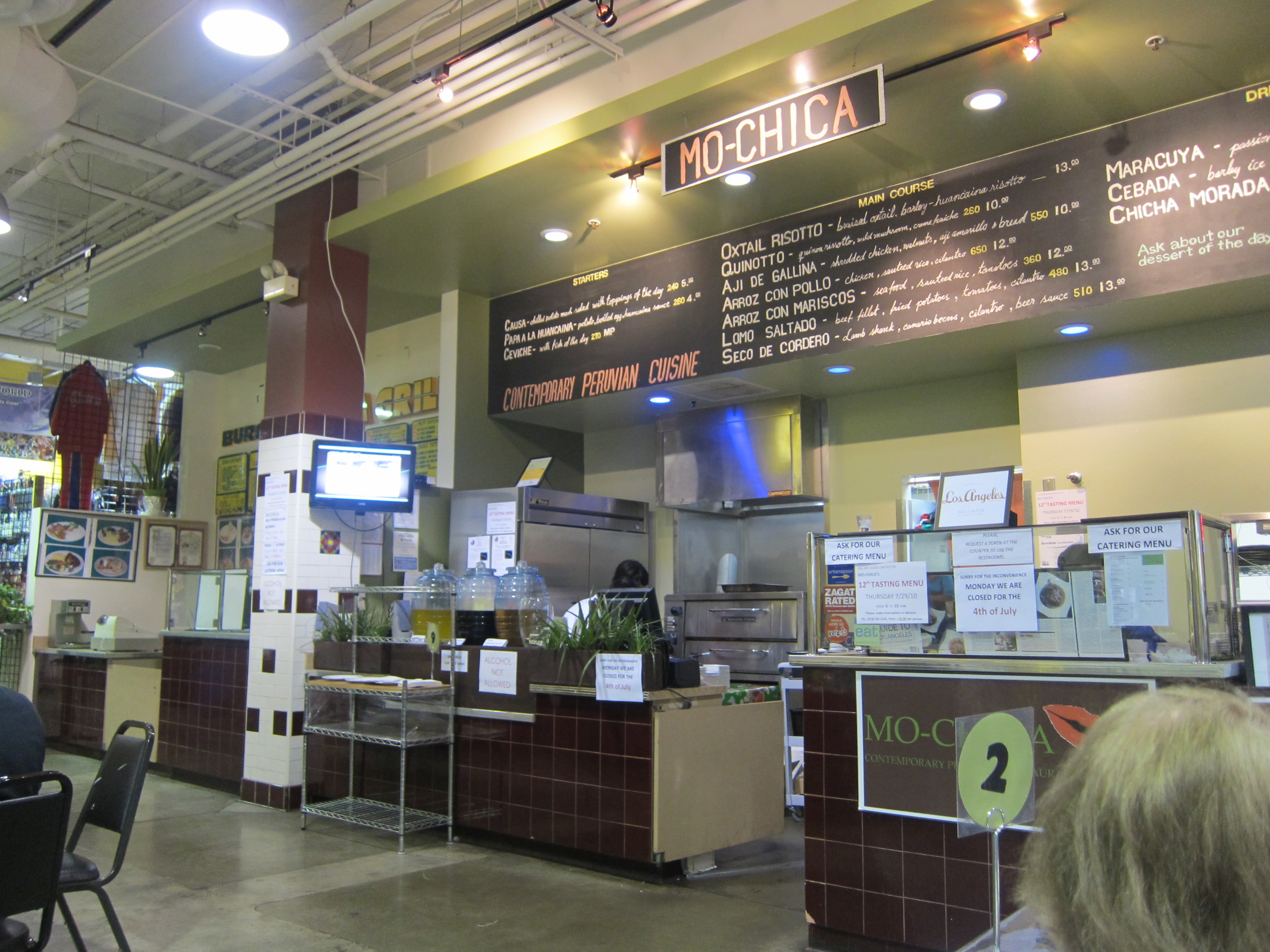 The bright, lively and commodious new space on 7th Street in downtown Los Angeles replaces the stand in the Mercado La Paloma where Mo-chica originated ...
