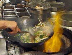 Noodles, fire