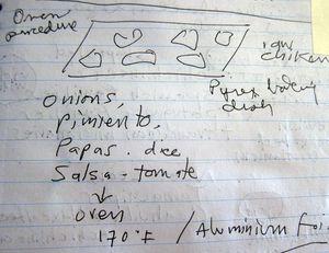Written recipe