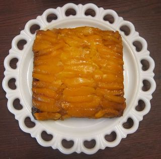 Cake with plate