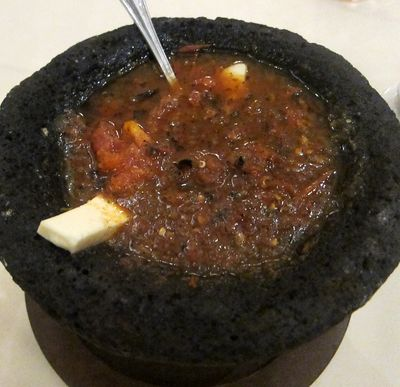 Molcajete with cheese